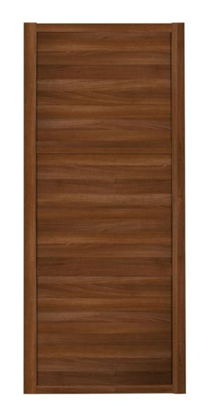 Shaker Sliding Wardrobe Door- WALNUT FRAME - 3  WALNUT PANELS